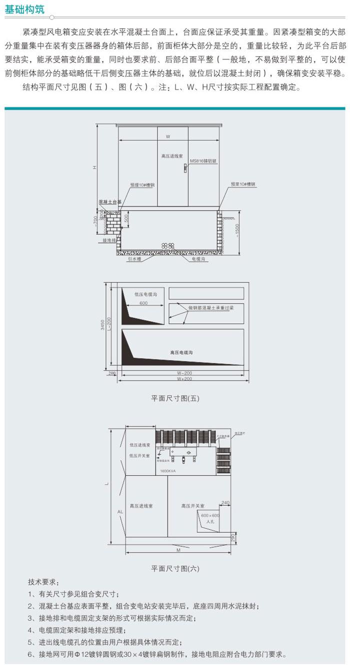 YBF□-40.5/0.69紧凑型风能箱式变电站