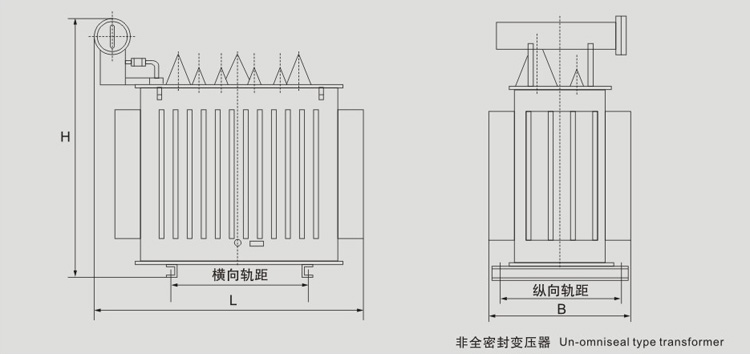 SZ9有载调压油浸式配电yabo29外型图