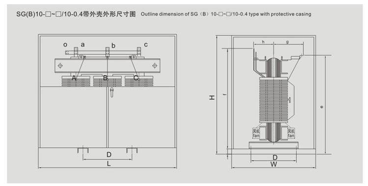 SG(B)10H环保型干式变压器
